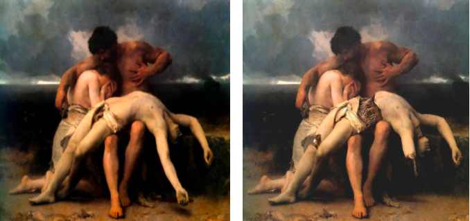 The first mourning - William Adolphe Bourguereau Death of a cyborg - Shorra
